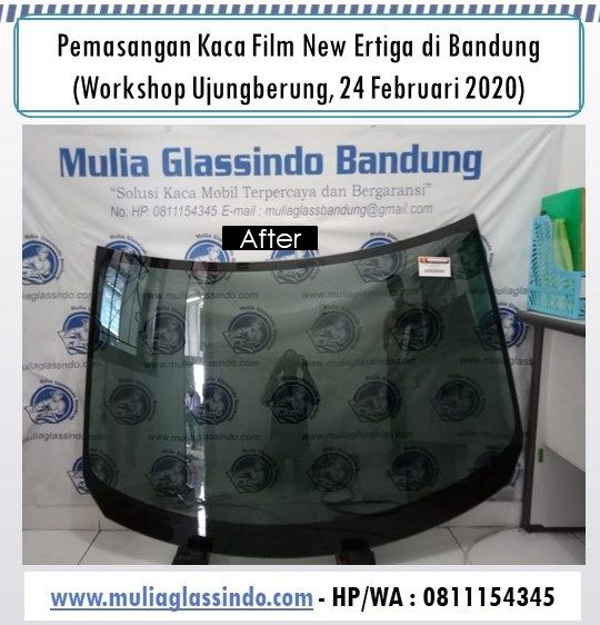 Pemasangan Kaca Film di Bandung : Mobil New Ertiga (Ujungberung, 24 Februari 2020)