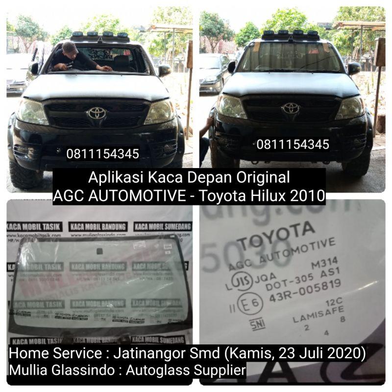 Home Service Pemasangan Kaca Depan Toyota Hilux di Bandung (Jatinangor, 23 Juli 2020)