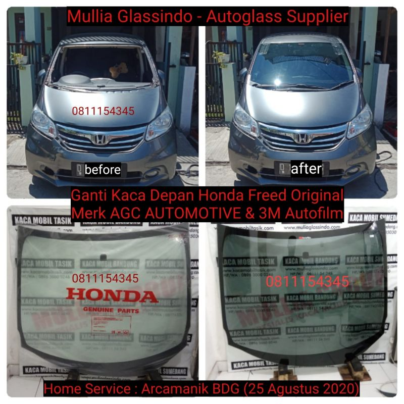 Home Service Ganti Kaca Depan Original Honda Freed di Bandung (Arcamanik, 25 Agustus 2020)