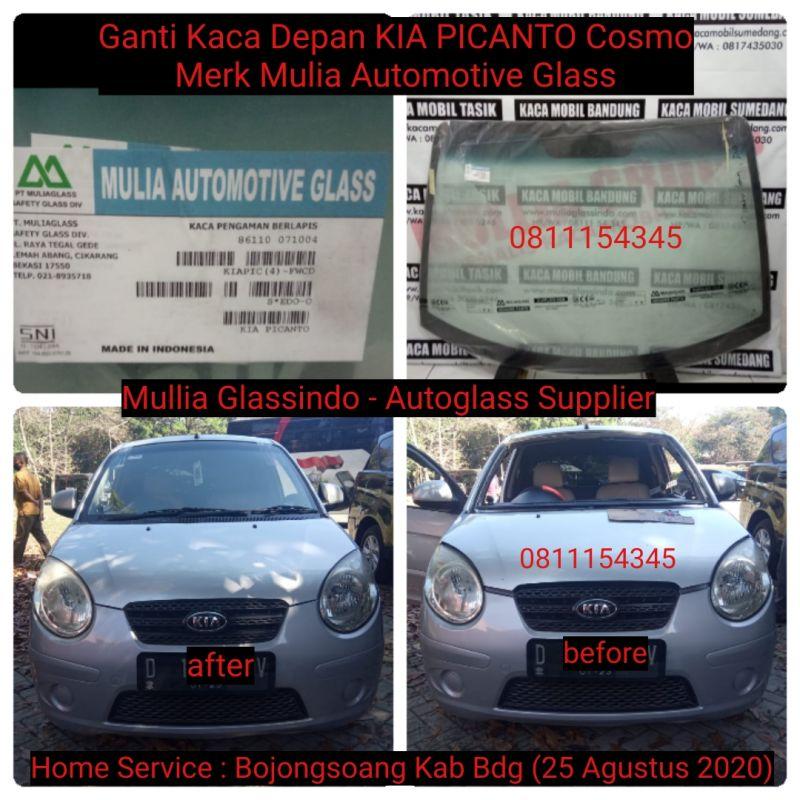 Home Service Ganti Kaca Depan KIA Picanto Cosmo di Bandung (Bojongsoang, 25 Agustus 2020)