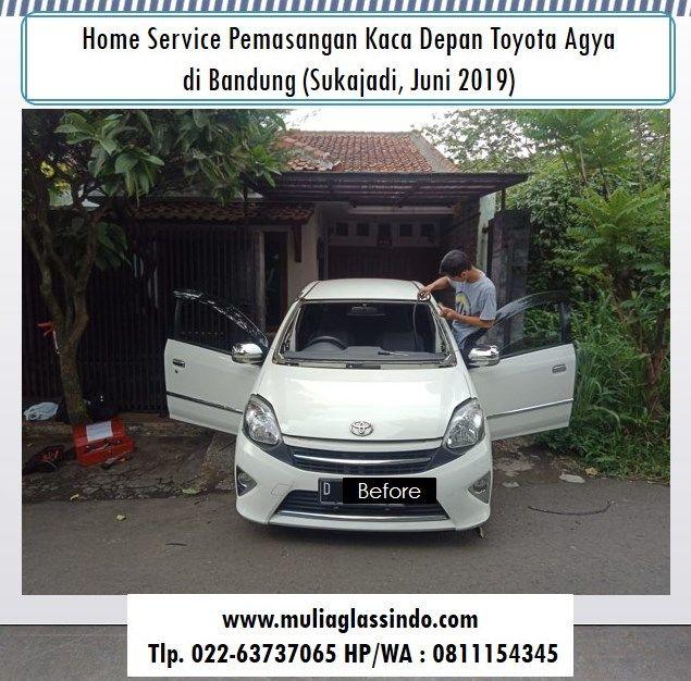 Home Service Pemasangan Kaca Depan Agya di Bandung (Sukajadi, Juni 2019)
