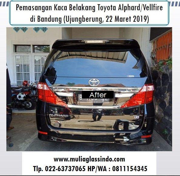 Kaca Belakang Toyota Alphard di Bandung