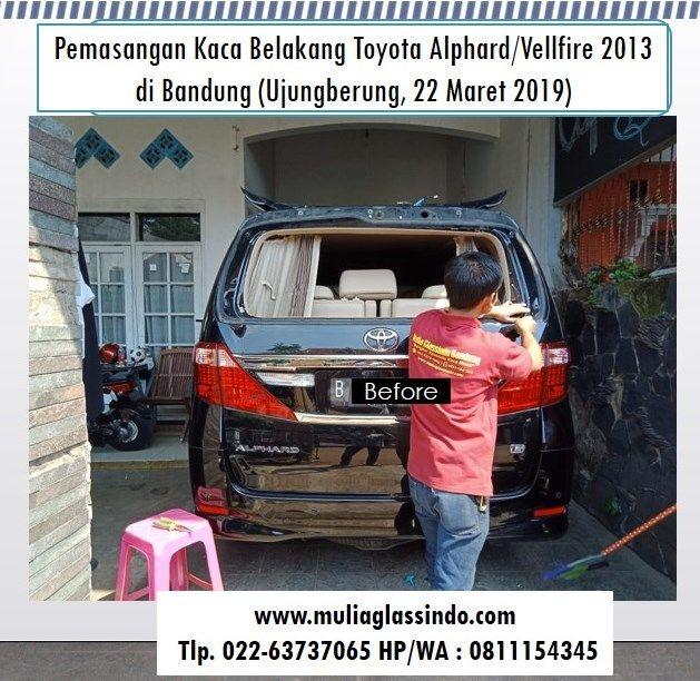 Tempat Ganti Kaca Belakang Toyota Alphard di Bandung Murah dan Bergaransi