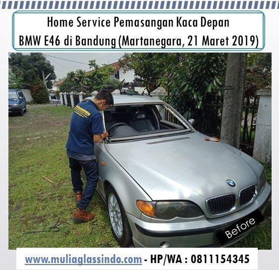 Home Service Pemasangan Kaca Mobil BMW E46 di Bandung (Martanegara, 21 Maret 2019)
