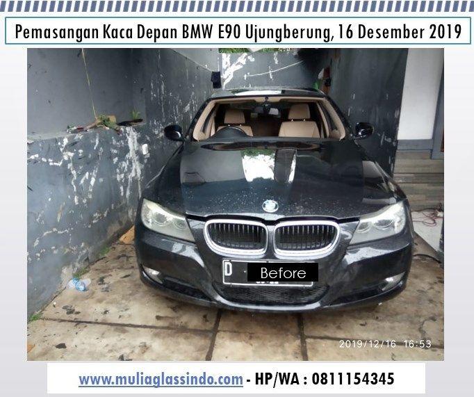 Pemasangan Kaca Depan BMW E90 di Bandung (Ujungberung, 16 Desember 2019)