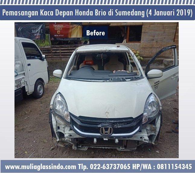 Berangkat dari Bandung untuk Pemasangan Kaca Mobil Honda Brio di Sumedang (4 Januari 2018)
