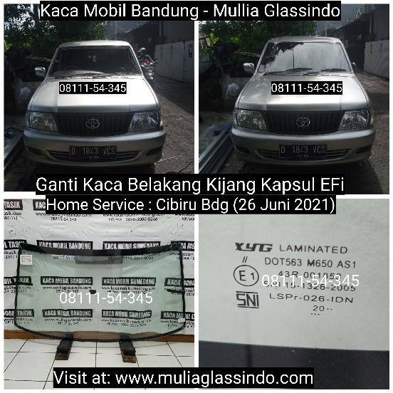 Home Service Ganti Kaca Depan Mobil Kijang Kapsul di Bandung (Cibiru, 26 Juni 2021)