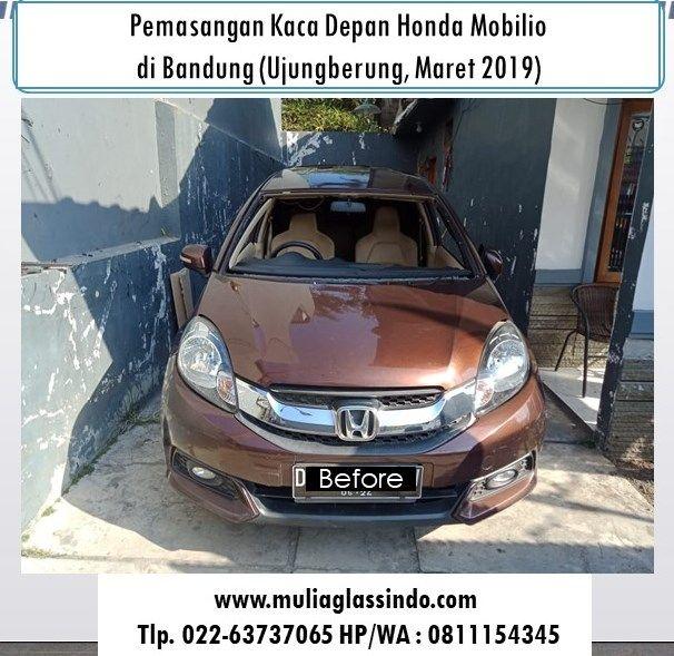 Pemasangan Kaca Depan Honda Mobilio di Bandung Murah (Ujungberung, Maret 2019)