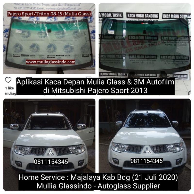 Home Service Pemasangan Kaca Depan Mitsubishi Pajero Sport di Bandung (Majalaya, 21 Juli 2020)