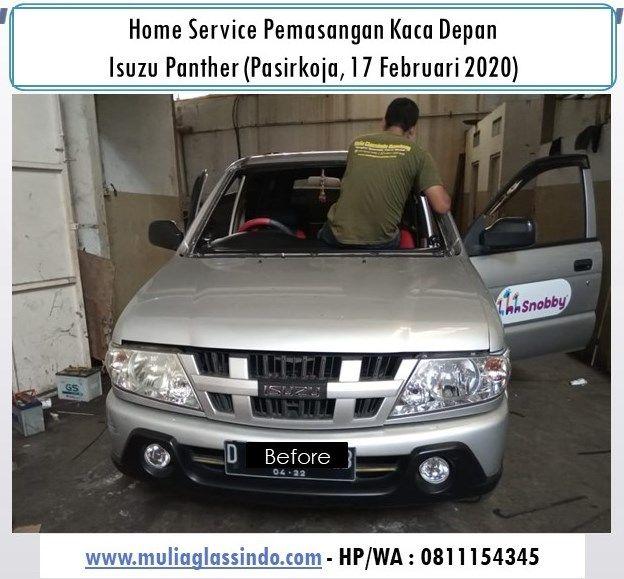 Home Service Pemasangan Kaca Depan Isuzu Panther di Bandung (Pasirkoja, 17 Februari 2020)