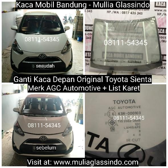 Ganti Kaca Depan Original Toyota Sienta di Bandung Garut Subang Sumedang Cianjur Purwakarta