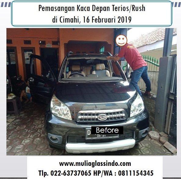 Home Service Pemasangan Kaca Depan Daihatsu Terios/Rush di Cimahi (16 Februari 2019)