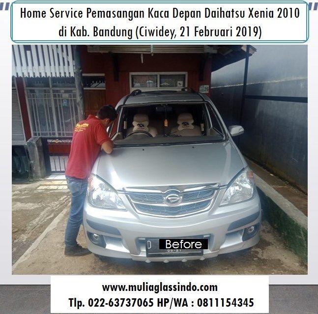 Home Service Pemasangan Kaca Depan Daihatsu Xenia di Bandung Murah (Ciwidey, 21 Februari 2019)