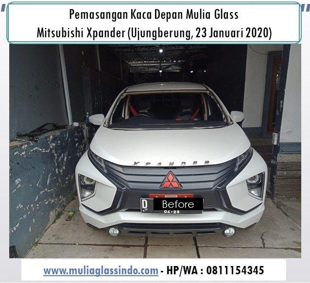 Pemasangan Kaca Depan Mitsubishi Xpander di Bandung (Ujungberung, 23 Januari 2020)