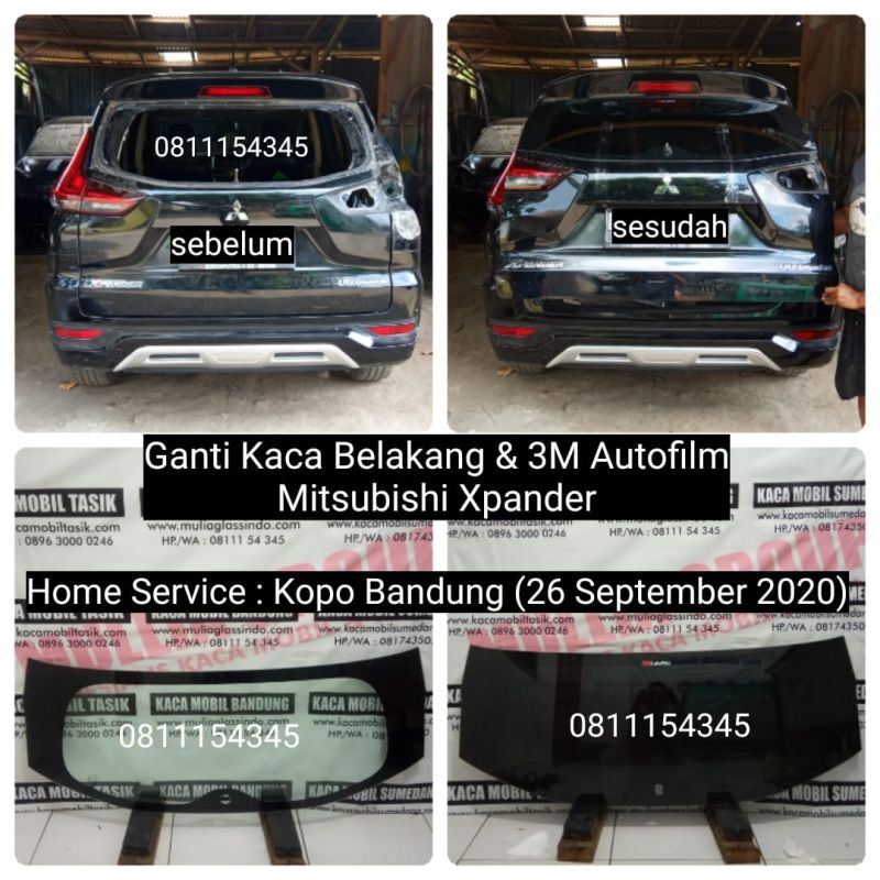 Home Service Ganti Kaca Belakang Mitsubishi Xpander di Bandung (Kopo, 26 September 2020)