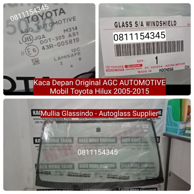 Kaca Depan Toyota Hilux Original