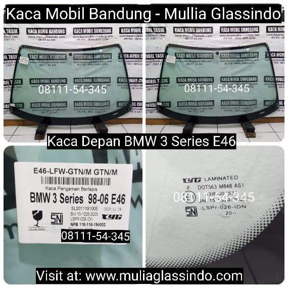 Jual Kaca Depan Mobil BMW E46 di Bandung Sukabumi Tasik Garut Subang Purwakarta Cianjur Sumedang