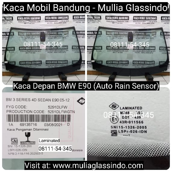 Jual Kaca Depan Mobil BMW E90 di Bandung Cianjur Purwakarta Sukabumi Subang Tasik Garut Sumedang