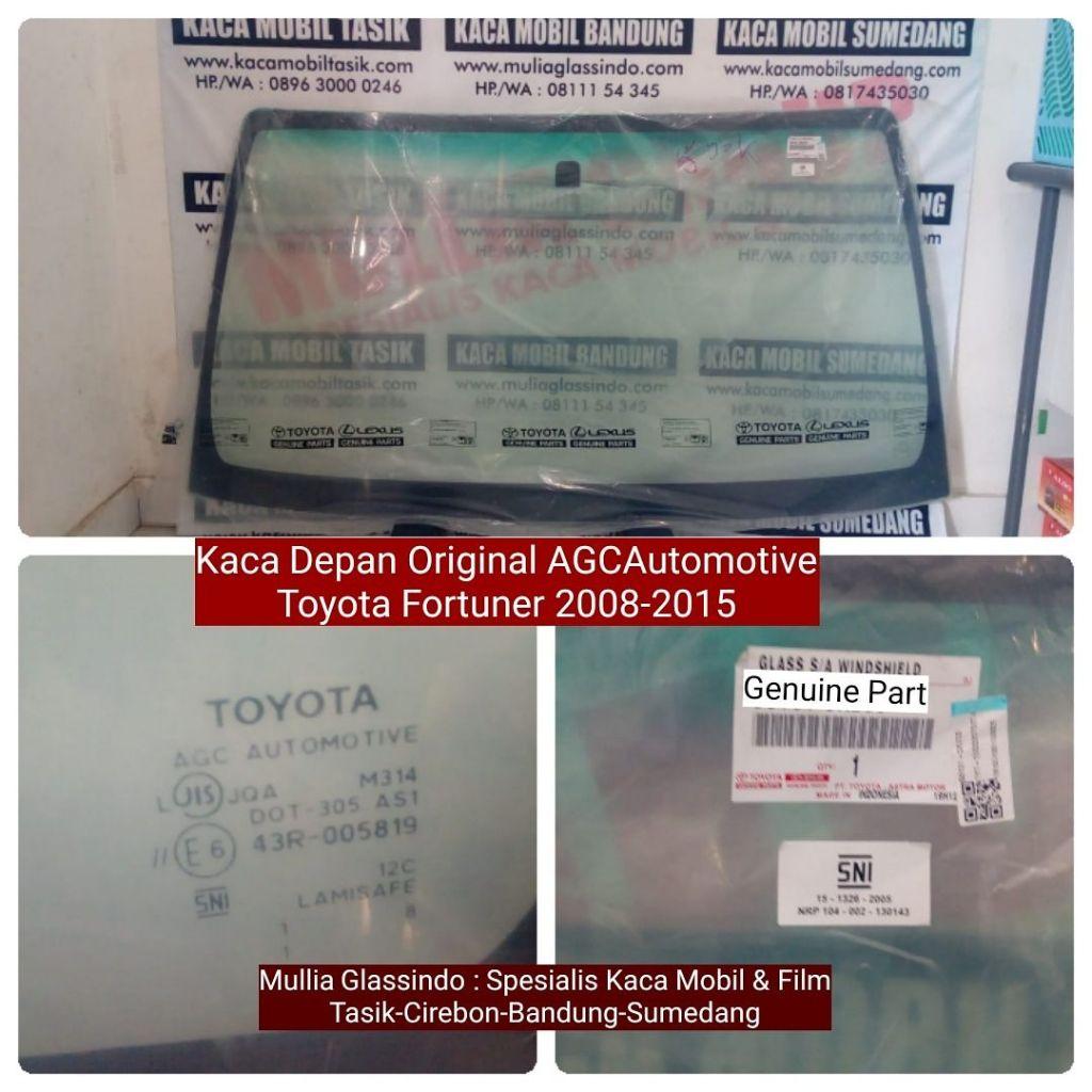 Jual Kaca Depan Toyota Fortuner Original di Bandung (Merk AGC Automotive, Logo Toyota)