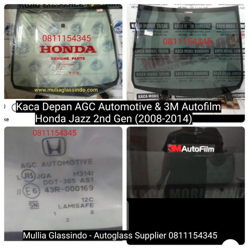 Jual Kaca Depan Original Honda Jazz 2008-2014 di Bandung