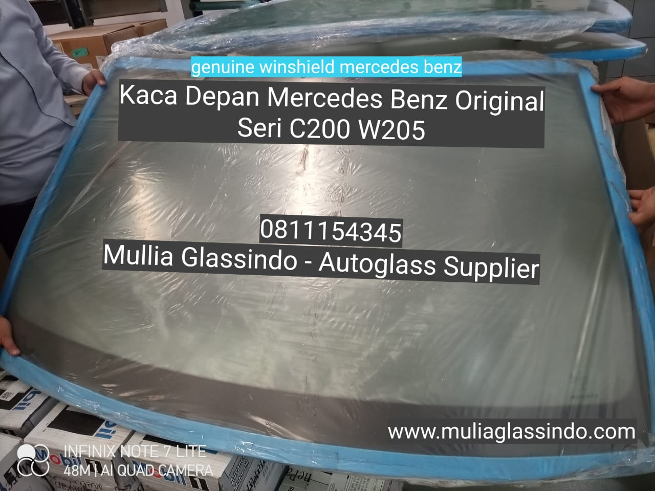 Ready Stok Kaca Depan Mercedes Benz W205 Original Berlogo Mercy