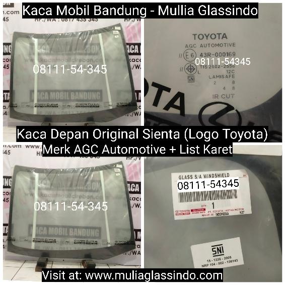 Jual Kaca Depan Original Toyota Sienta di Bandung Garut Sumedang Subang Cianjur Purwakarta