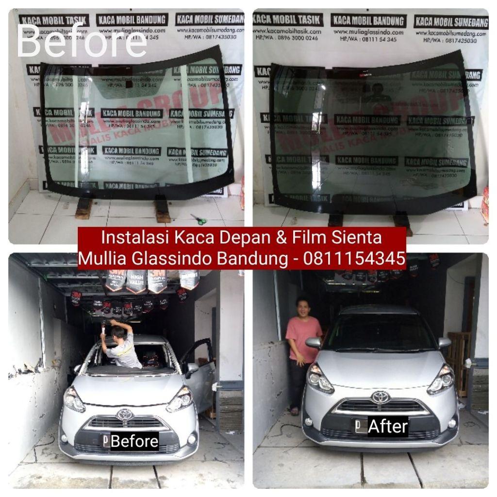 Pemasangan Kaca Depan Toyota Sienta Original di Bandung