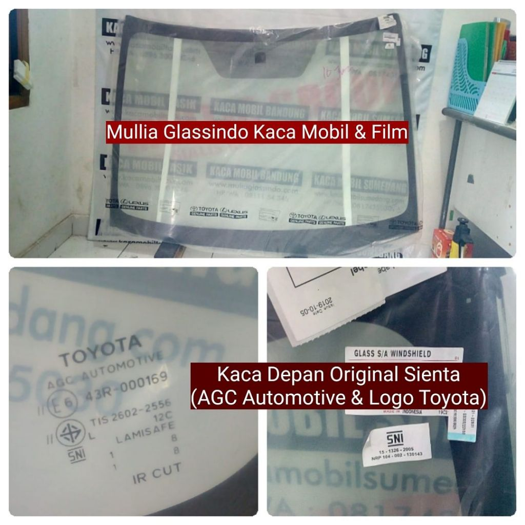Jual Kaca Depan Toyota Sienta Original di Bandung